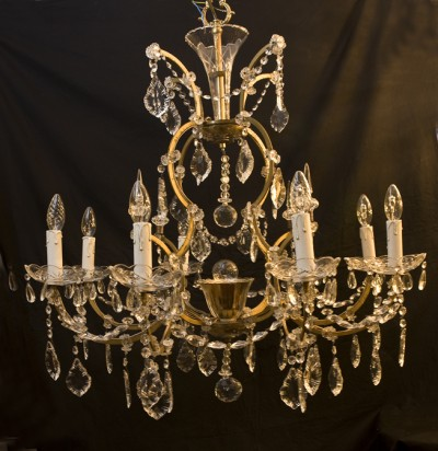 old crystal marie therese chandelier